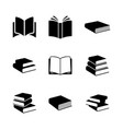 simple books icon series vector image