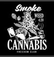 smoke cannabis print vector image