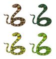 Snakes set vector image vector image