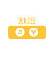 sound sign icon audio device control panel vector image