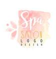 spa salon delicate logo original design for vector image vector image