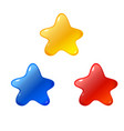 stars icon blue red yellow star icons vector image vector image