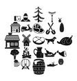 storehouse icons set simple style vector image vector image
