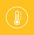 thermometer icon in circle vector image vector image