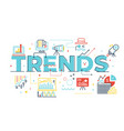 trends word lettering vector image vector image
