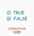 True and False computer symbol vector image vector image