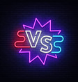 versus neon sign neon symbol icon logo design vector image