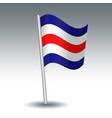 waving maritime signal flag c charlie vector image