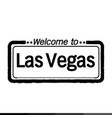 welcome to las vegas city design vector image