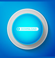 white download button with arrow icon isolated vector image vector image