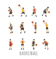 Young Basketball player eps10 format vector image vector image