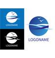design modern sea logos vector image
