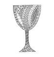 black and white glass tangle pattern vector image