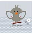 Cute art sweet kid card baby invitation vector image