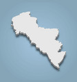 3d isometric map andros is an island in greece vector image vector image