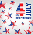 4th july usa independence day patriotic american vector image