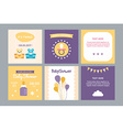 a set templates for bashower invitation and vector image