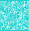 abstract white on blue leaves and drops pattern vector image