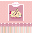Baby girl birth Greeting Card vector image vector image