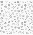 back to school seamless pattern in thin vector image