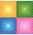 Background rays collection vector image vector image