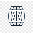 big barrel concept linear icon isolated on vector image