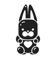 candy rabbit icon simple style vector image vector image