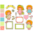 cartoon design elements vector image vector image