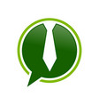 ceo talk bubble chat green symbol design vector image vector image