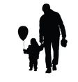 child with father black vector image vector image