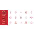 coat icons vector image vector image