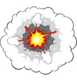 comic explosion vector image