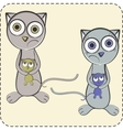 couple cats together vector image vector image