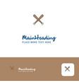 creative baseball bat logo design flat color logo vector image vector image