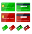 credit cards design vector image vector image