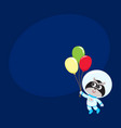 cute raccoon astronaut spaceman in spacesuit vector image vector image