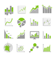 Data analysis signs and financial business vector image vector image