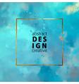 decorative watercolor background vector image vector image