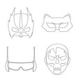 design of hero and mask logo collection of vector image