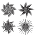 Dotted flower swirls vector image