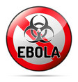 ebola biohazard virus danger sign with reflect vector image vector image