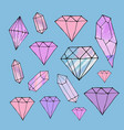 fashion shiny diamond stickers set vector image