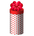 gift in rounded box present for holiday icon vector image vector image