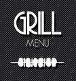 grill menu2 vector image vector image