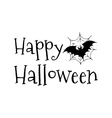Happy Halloween bat in the web vector image vector image