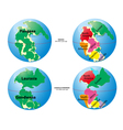 Historical World Maps vector image
