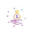 income money line icon savings sign vector image