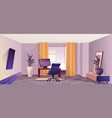 interior room home office vector image
