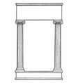 ionic columns have two pillar left and right side vector image vector image