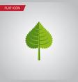 isolated foliage flat icon hickory element vector image